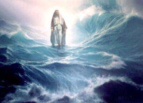 YAHUSHUA walking on water